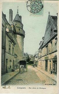 rue Anne de Bretagne Langeais début XIX° siècle