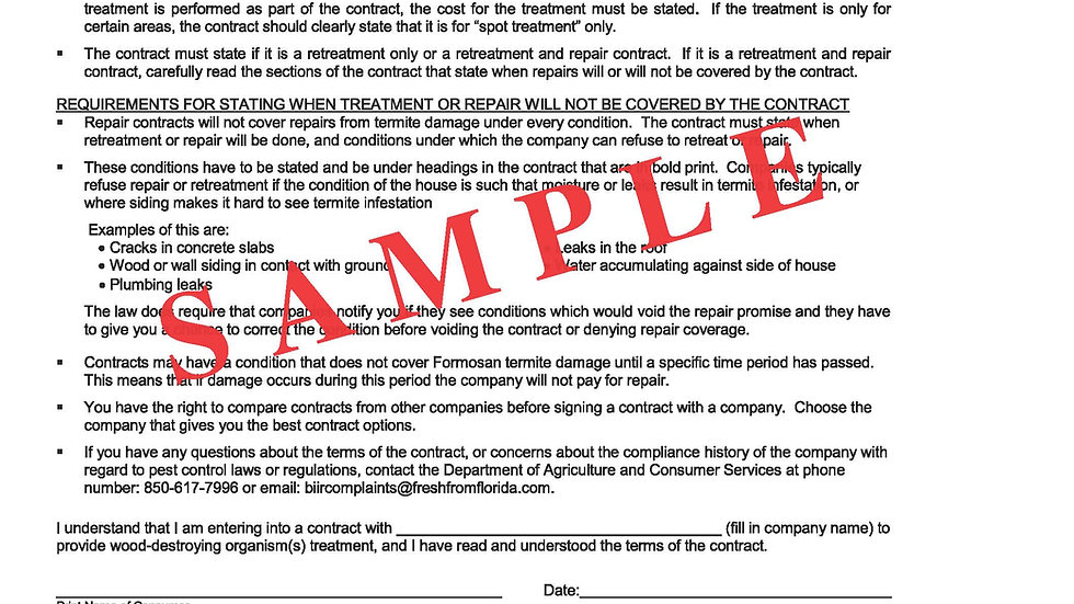 Consumer Notice Form