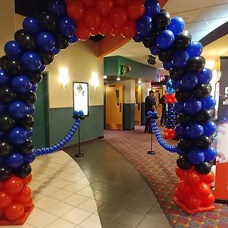 colorful balloon arche for corporate event