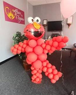 elmo made of balloons