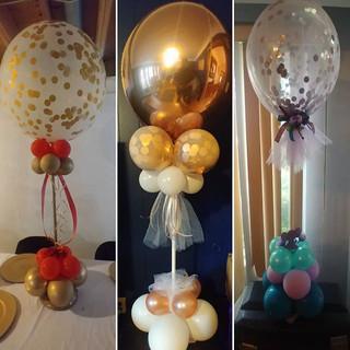 confetti balloon bouquets