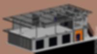 Схема стального каркаса здания