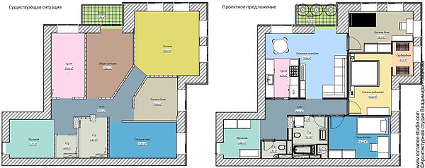 Квартира на А. Нейбута. Сравнение планировок