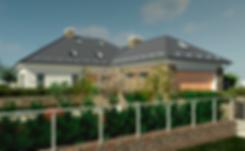Фасад со стороны гаража. Европейский стиль дома