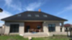 Дом в процессе строительства