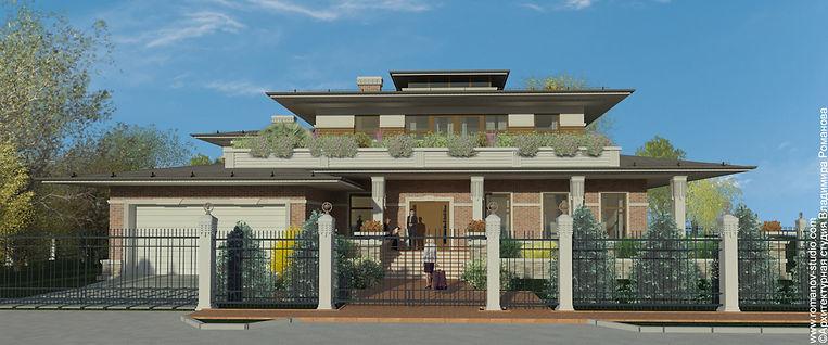 Главный фасад Garden House