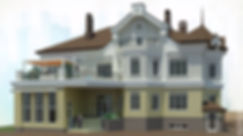Дом на 2-й Кольцевой. Рендер главного фасада