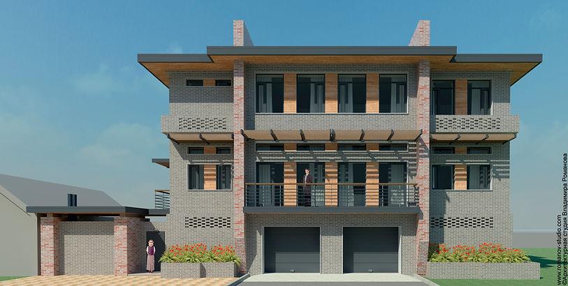 Проект красивого кирпичного дома