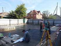 Начало строительства дома на Звездова