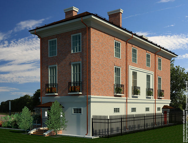 Дом в английском стиле. Южный фасад