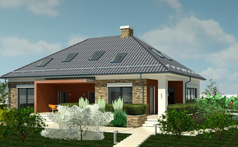 Дворовый фасад дома, проект дома в европейском стиле