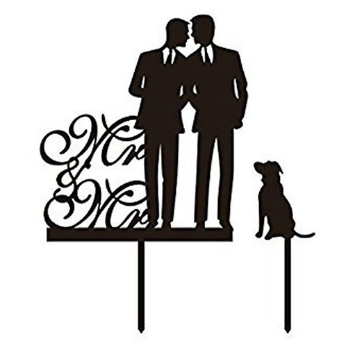 Mr and Mr Cake Topper