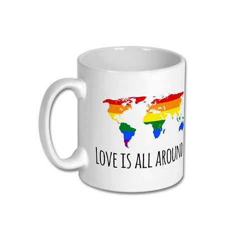 Mug - Love is all around us