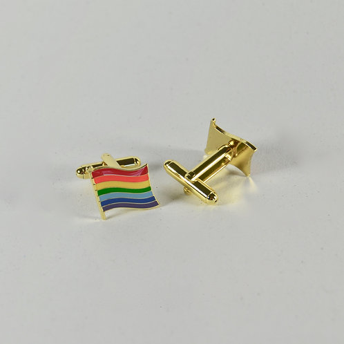 Cuff Links - Rainbow Flag