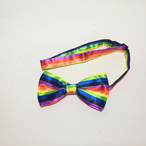 Rainbow Bow Tie - Horizontal Stripes