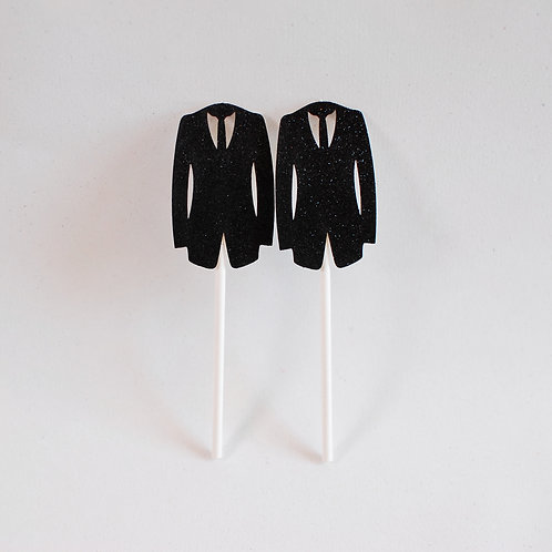 Groom Cup Cake Toppers