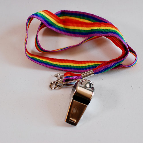 Rainbow Lanyard with Whistle