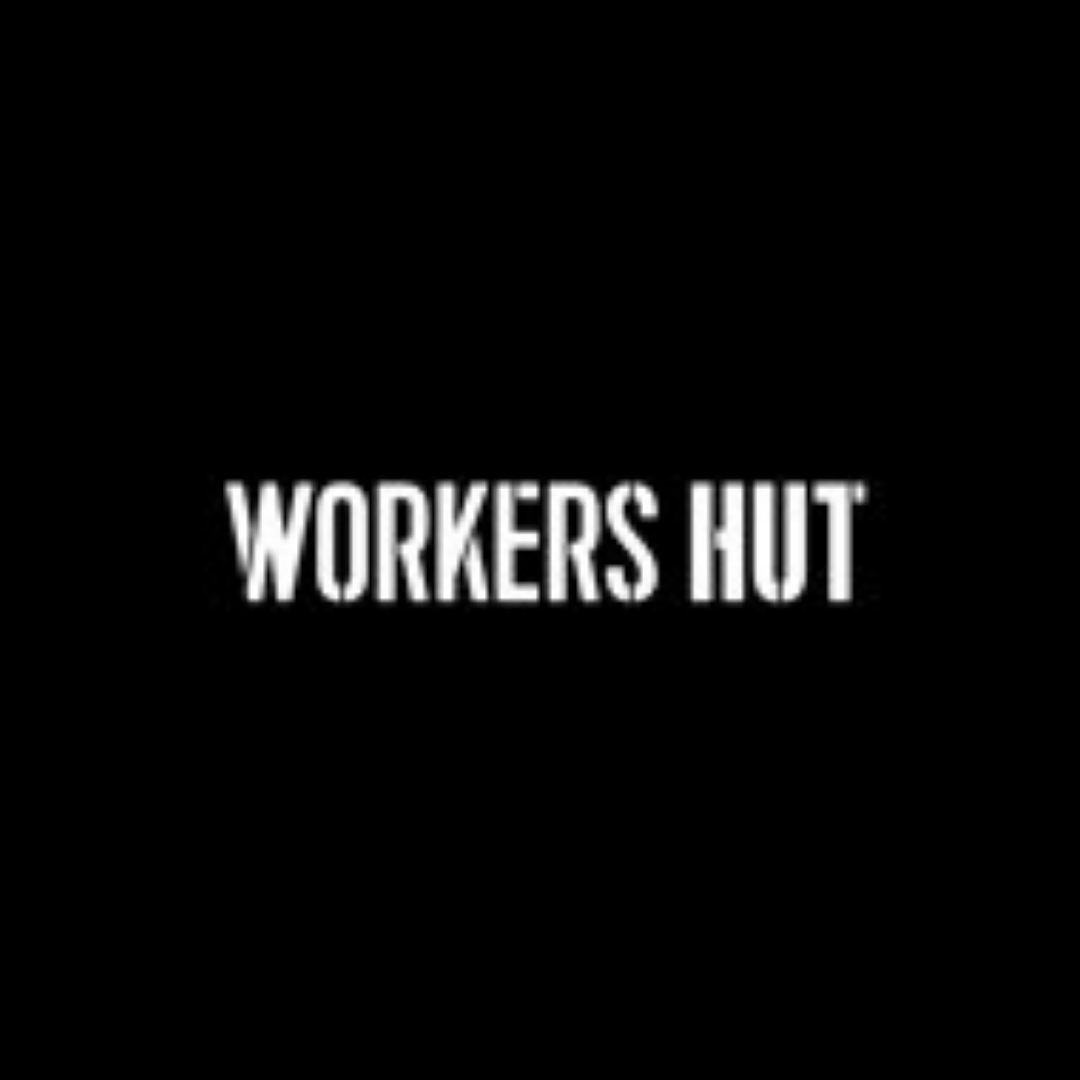 WORKERS HUT LOGO SQUARE COURTREDHANDED_