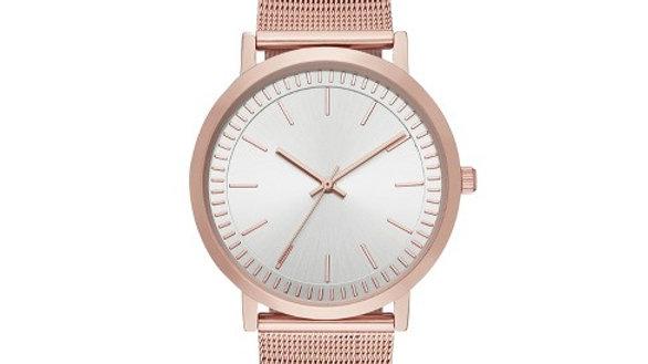 Rose Gold Mesh Classic Watch