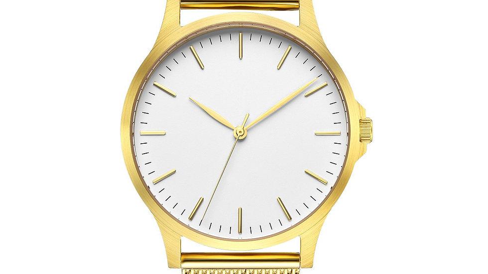 Gold Mesh Classic Watch