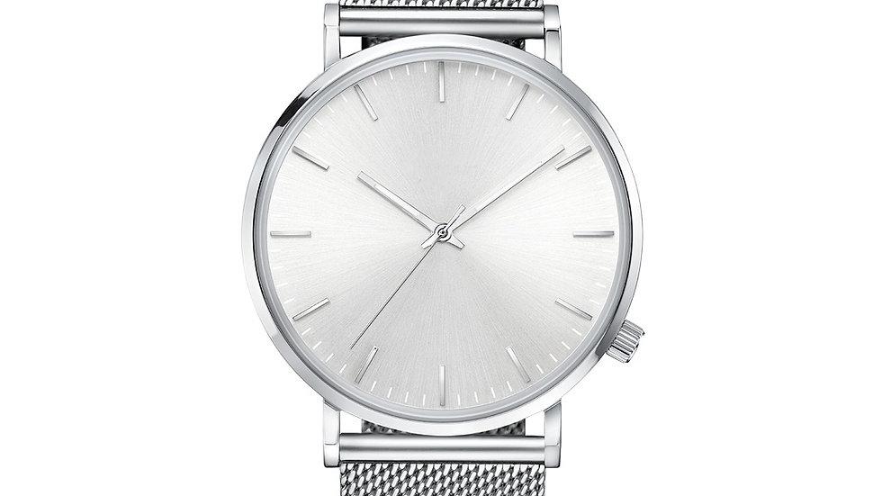 Silver Mesh Classic Watch