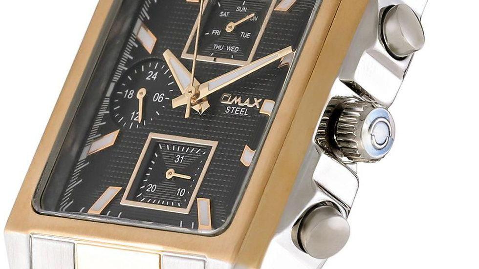 Omax Tank Mens Two Tone Watch (Chronograph) 31SMT26I