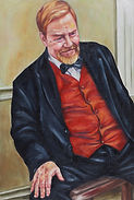 A painting of Peter Fisher Hesed