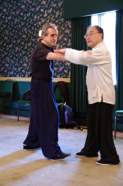 216 Master Ting demonstrates push hands