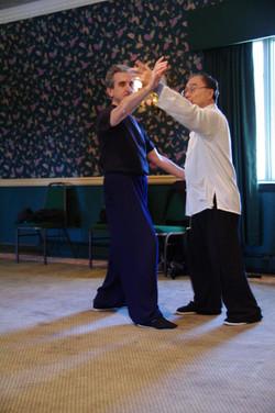 218 Master Ting demonstrates push hands