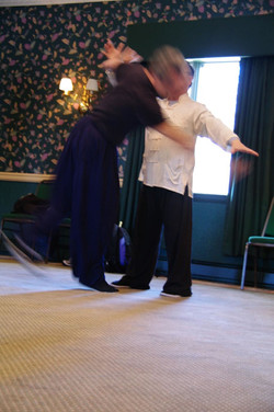 219 Master Ting demonstrates push hands