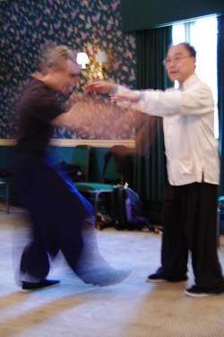 217 Master Ting demonstrates push hands