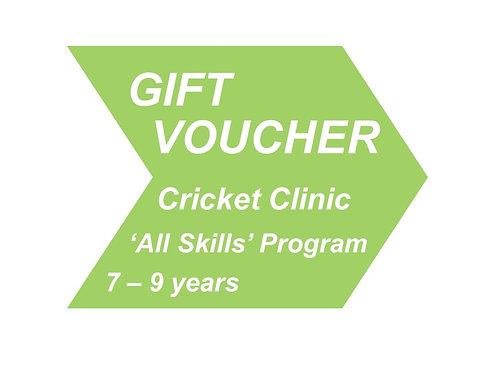 Cricket Clinic 'All Skills' 7 - 9 years