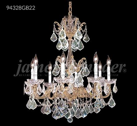 Brass Crystal Chandelier 94328BZ22