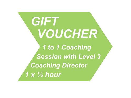 1 to 1 Coaching with Level 3 Coaching Director