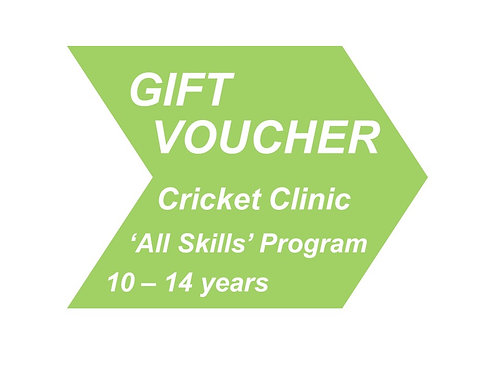 Cricket Clinic 'All Skills' 10 - 14 years