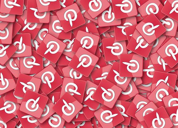 Pinterest-Icons auf Haufen, als Symbol für Pinterest Likes kaufen.