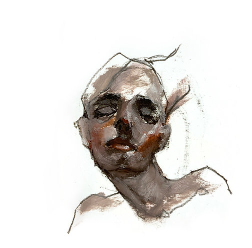 Female portrait, oil, 12,5x11cm