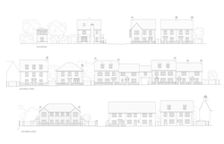 Ludgershall, Wiltshire - elevations of traditional houses