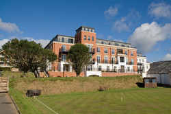 Classical apartments, Sanditon, Sidmouth, Devon - from the south