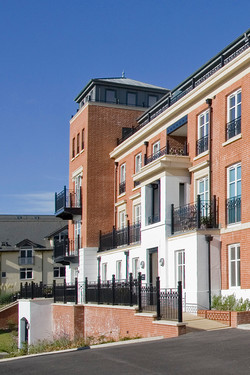 Sanditon apartments, Sidmouth - from the east showing classical detailing