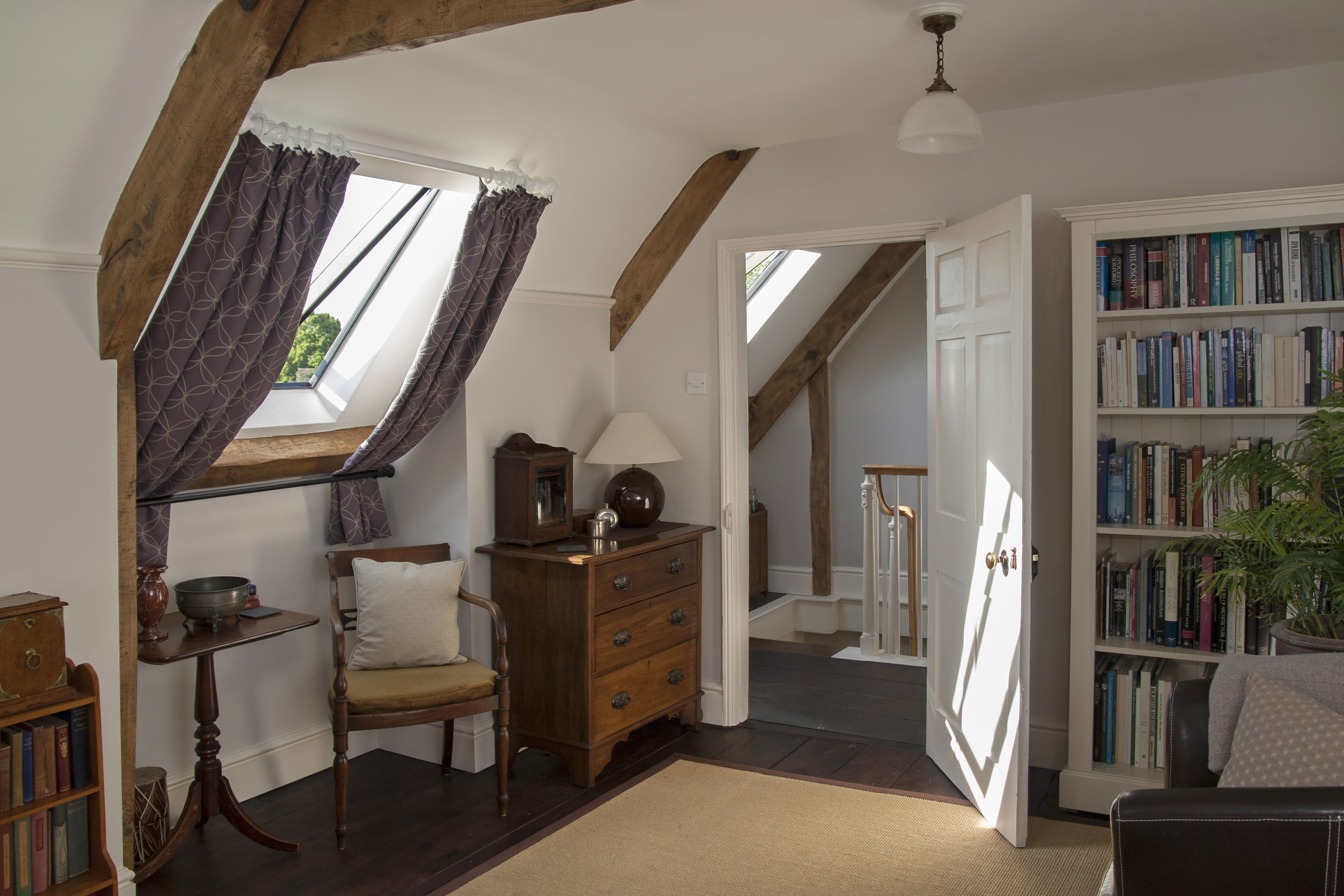 Conservation of a listed Georgian house in Martock, Somerset - refurbishment of attic