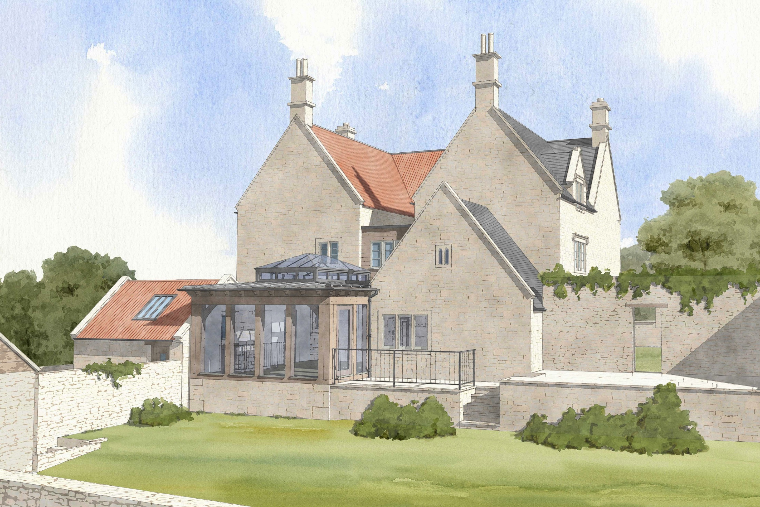 Conservation and extensions to a listed House in the Cotswolds near Box, Wiltshire