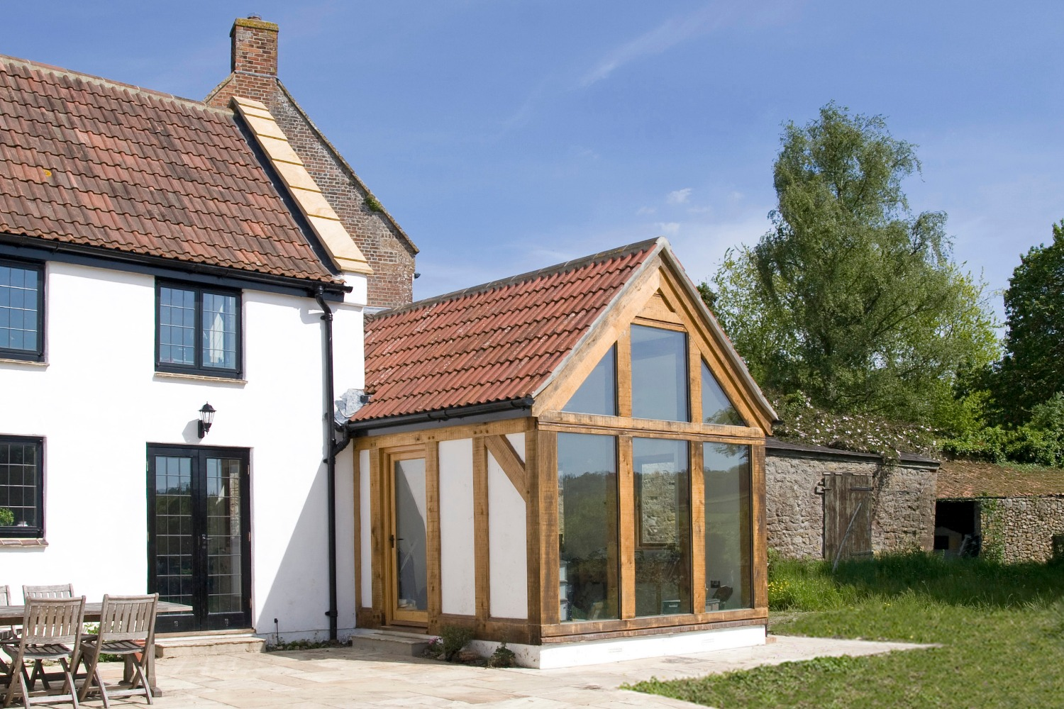 Conservation & extensions to a listed house near Ilminster, Somerset - timber frame garden room