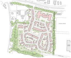 Traditional masterplan for houses and care home - Romsey, Hampshire