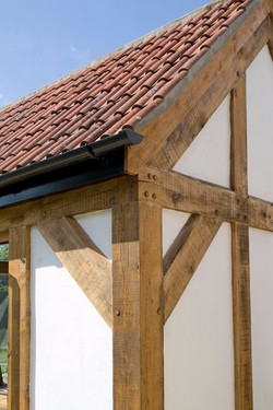 Extensions to a listed house near Ilminster, Somerset - oak frame detail