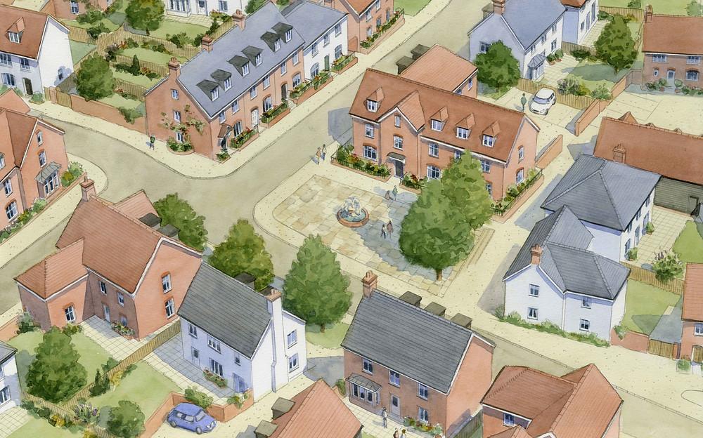 Masterplan for a site in Maidenhead, Berkshire