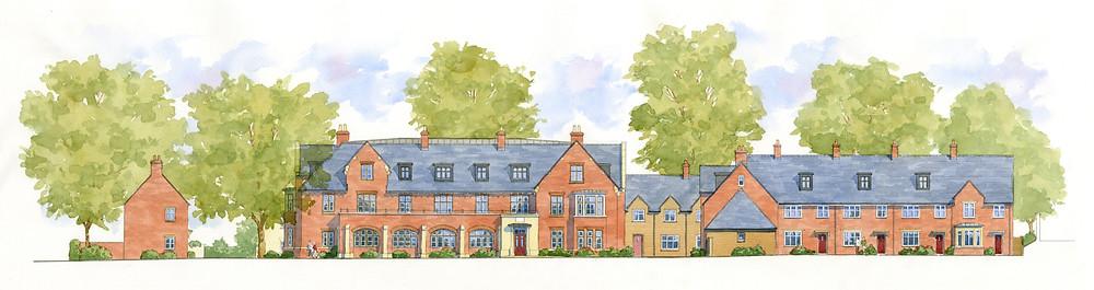 Masterplan for traditional housing in Blandford Forum, Dorset