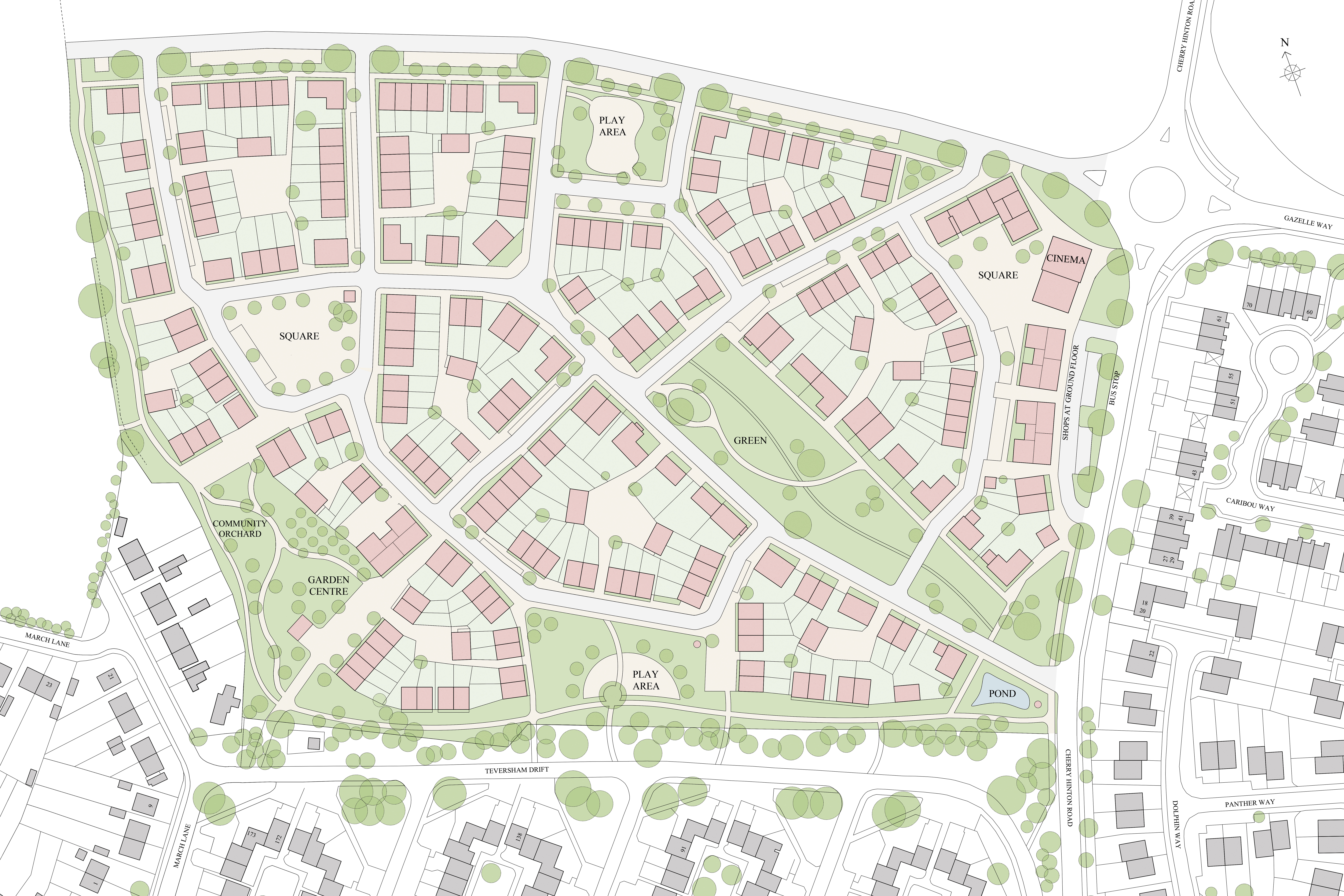 Mallets Park, Cambridge - masterplan