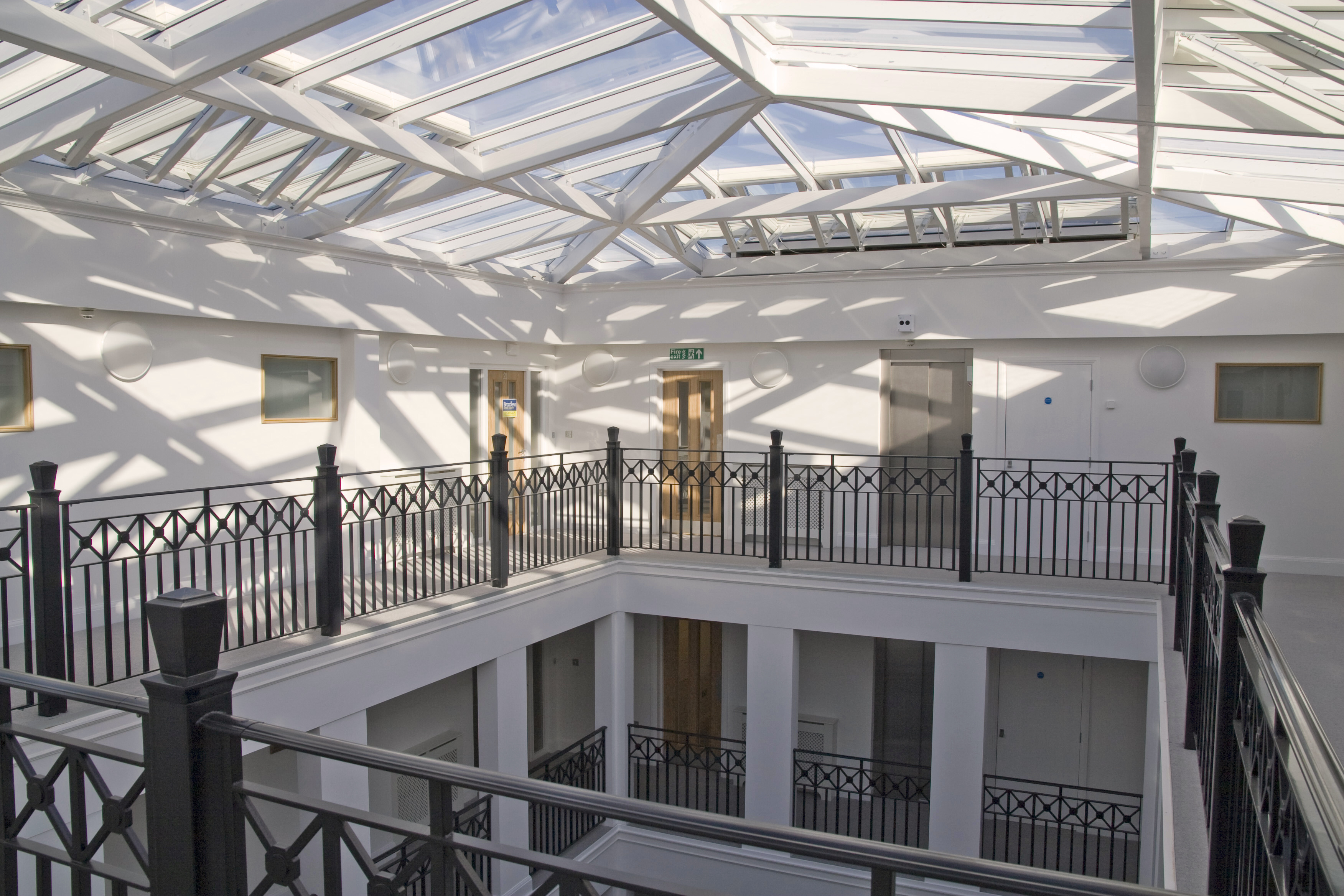 Sanditon apartments, Sidmouth, Devon - classical atrium roofroof