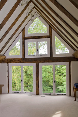 New windows and refurbishment to a listed house in Church Crookham, Hampshire